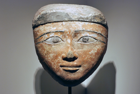 Sandstone Mummy Mask, Pyramid Hill Sculpture Park & Museum