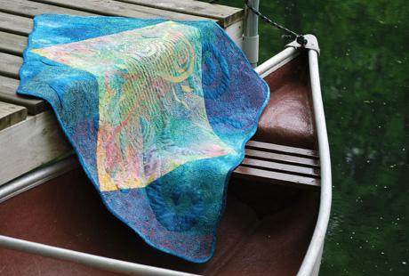 Quilt in Canoe