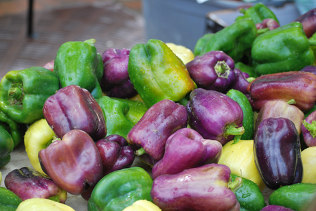 Dane County Farmers Market, peppers