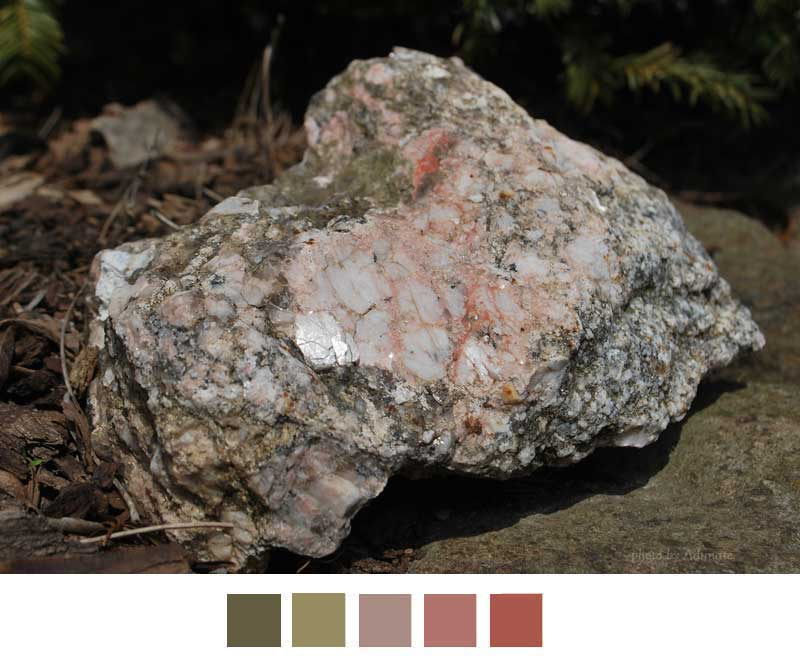 natural rock shows complimentary colors