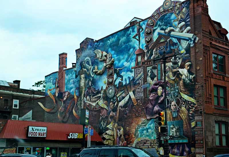 Theater of Life mural, 507 S Broad St. Philadelphia, PA 19147