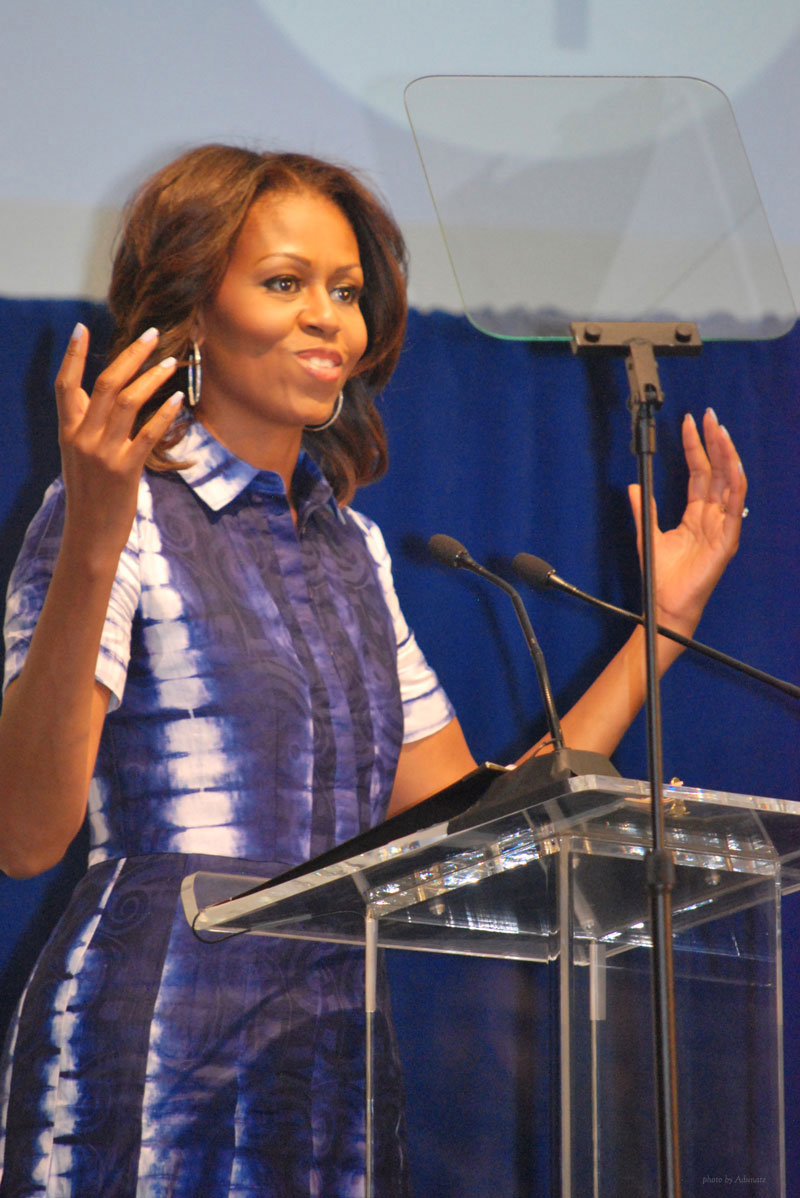 Michelle Obama visits Watertown WI for Drink Up campaign
