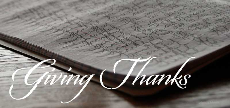 My list of thankfulness