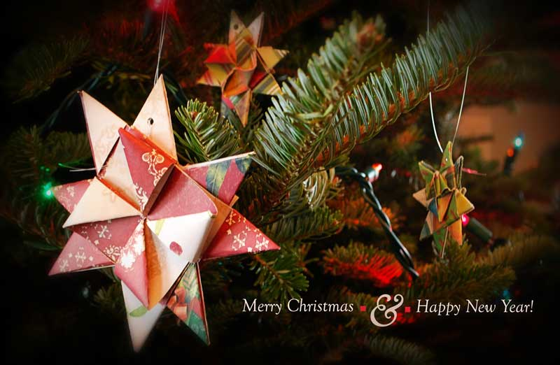 German Christmas Star, folded paper art