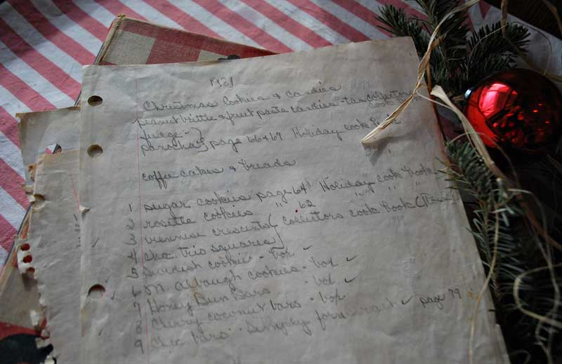Carol's Christmas Cookie List