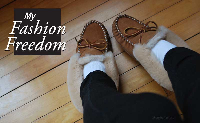 My AIGA means I have the freedom wear slippers to work.
