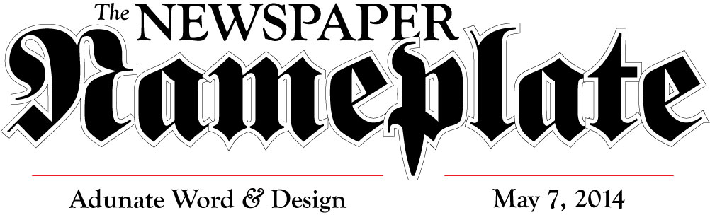 Newspaper nameplate design by Adunate