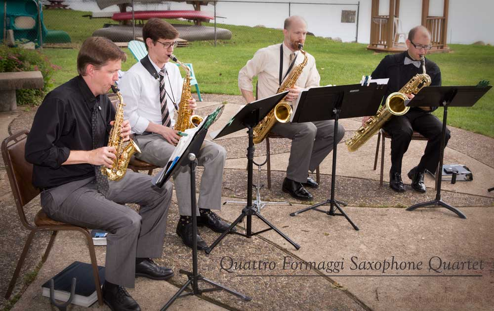 Quattro Formaggi Saxophone Quartet, wedding music in Madison, WI