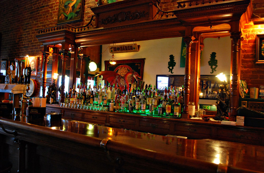 vintage bar in Monarch Public House, Fountain City, WI