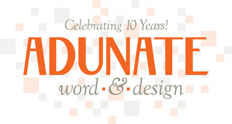 Adunate's 10th Anniversary logo