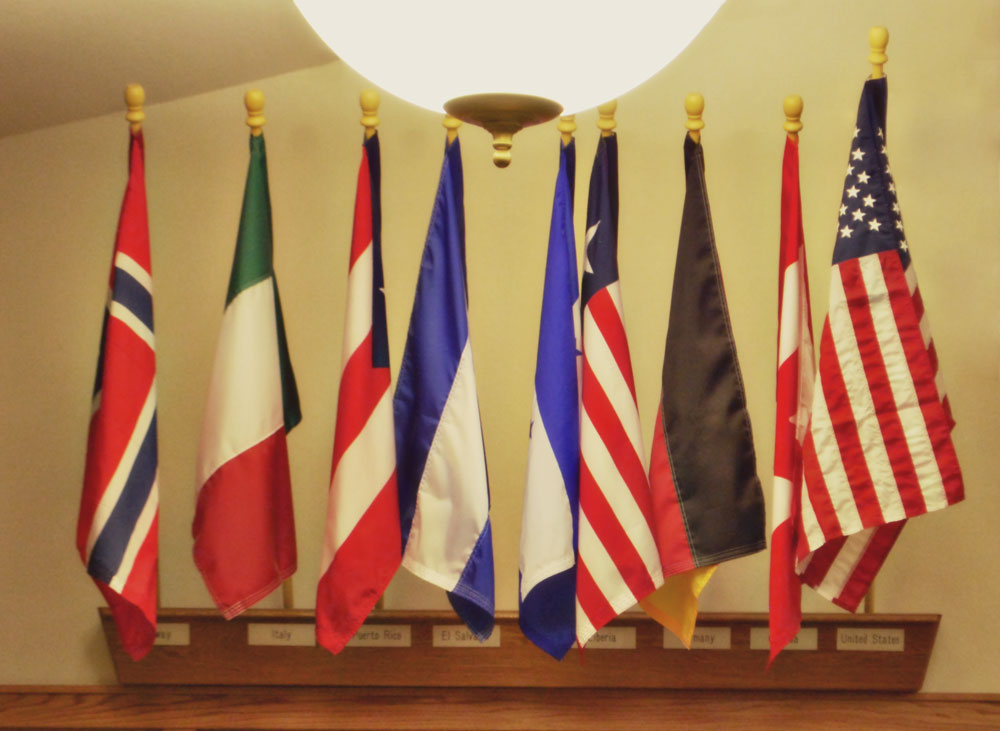 The flags of Risen Savior's Ministry, Milwaukee, WI