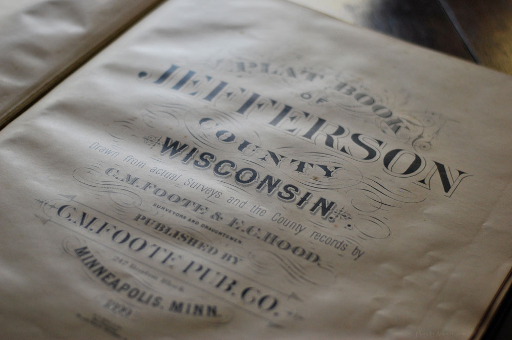 Jefferson County, Wis., Plat Book 1899