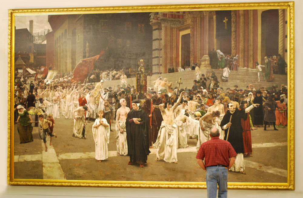The Flagellants (Procession of the Flagellants), 1889, by Carl von Marr