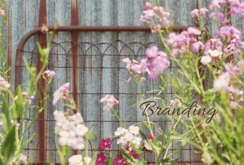 rusty gate in garden, Adunate Word & Design