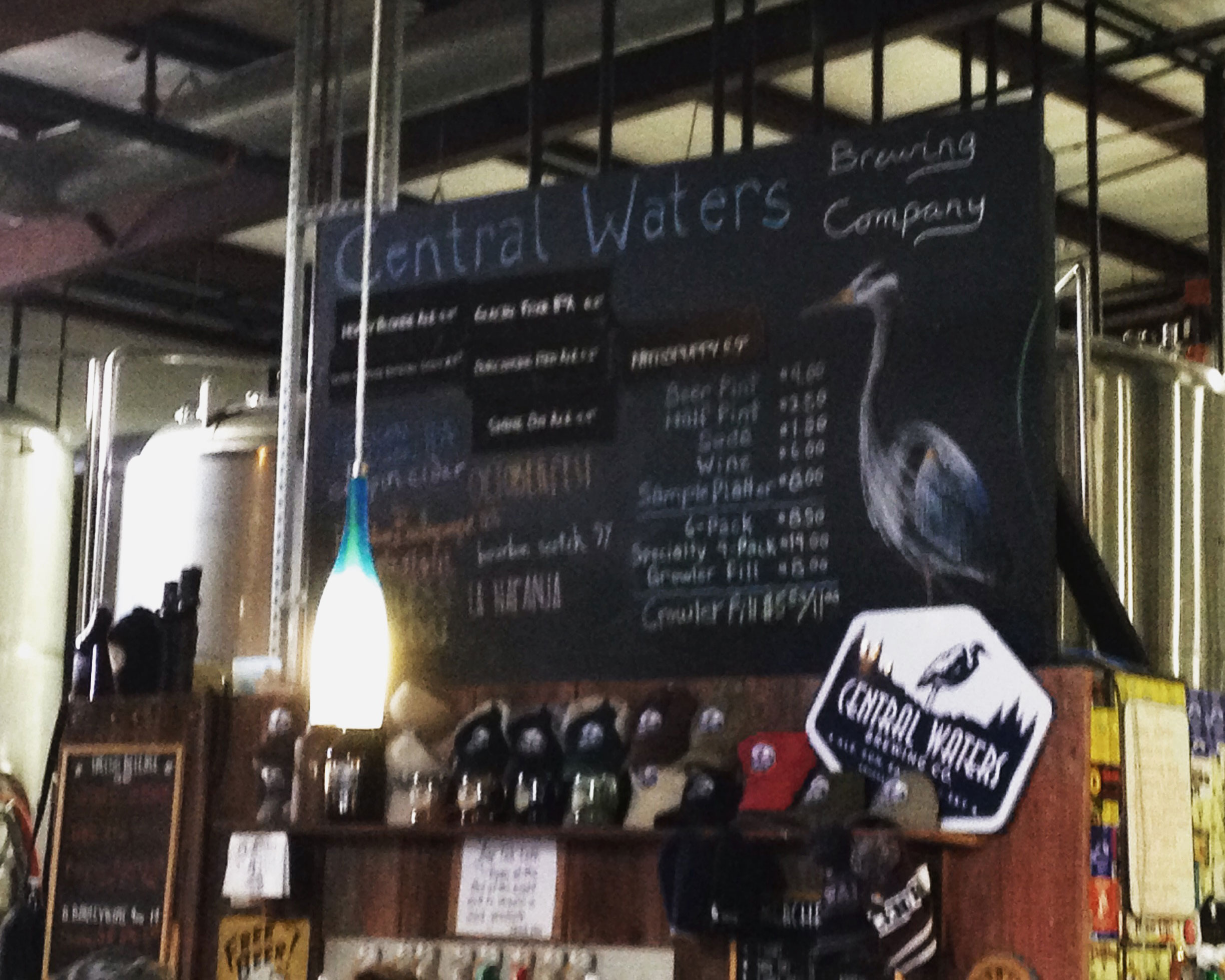 Central Waters Tap Room, Amherst, WI