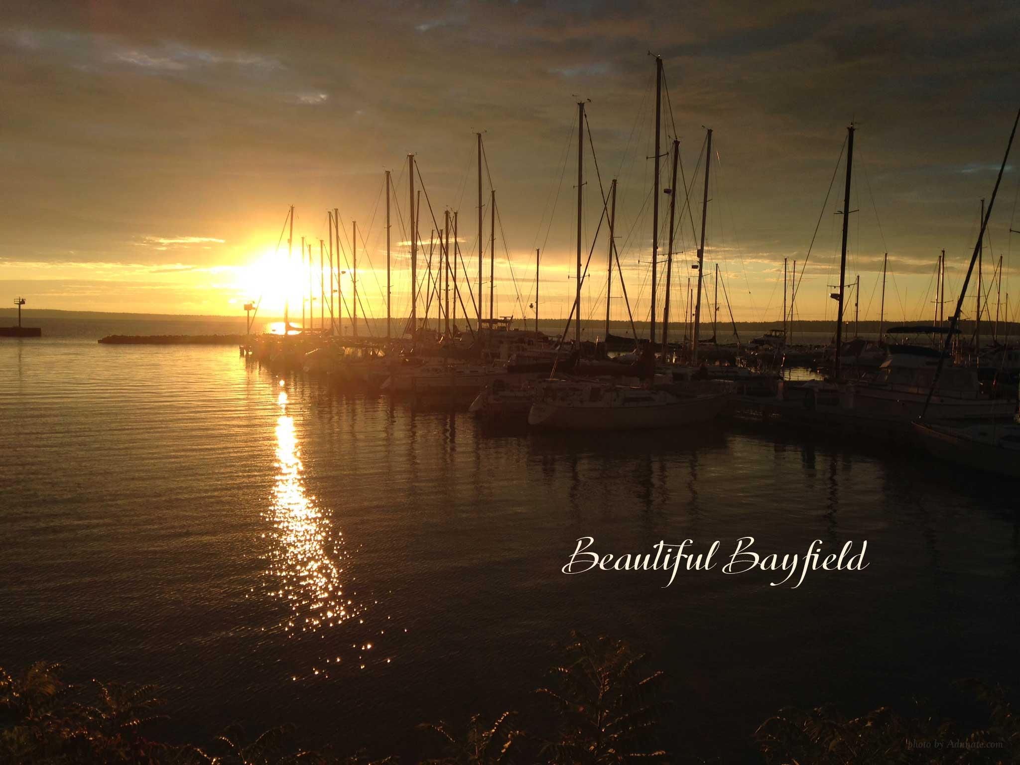Harbor sunrise in Bayfield, WIsconsin