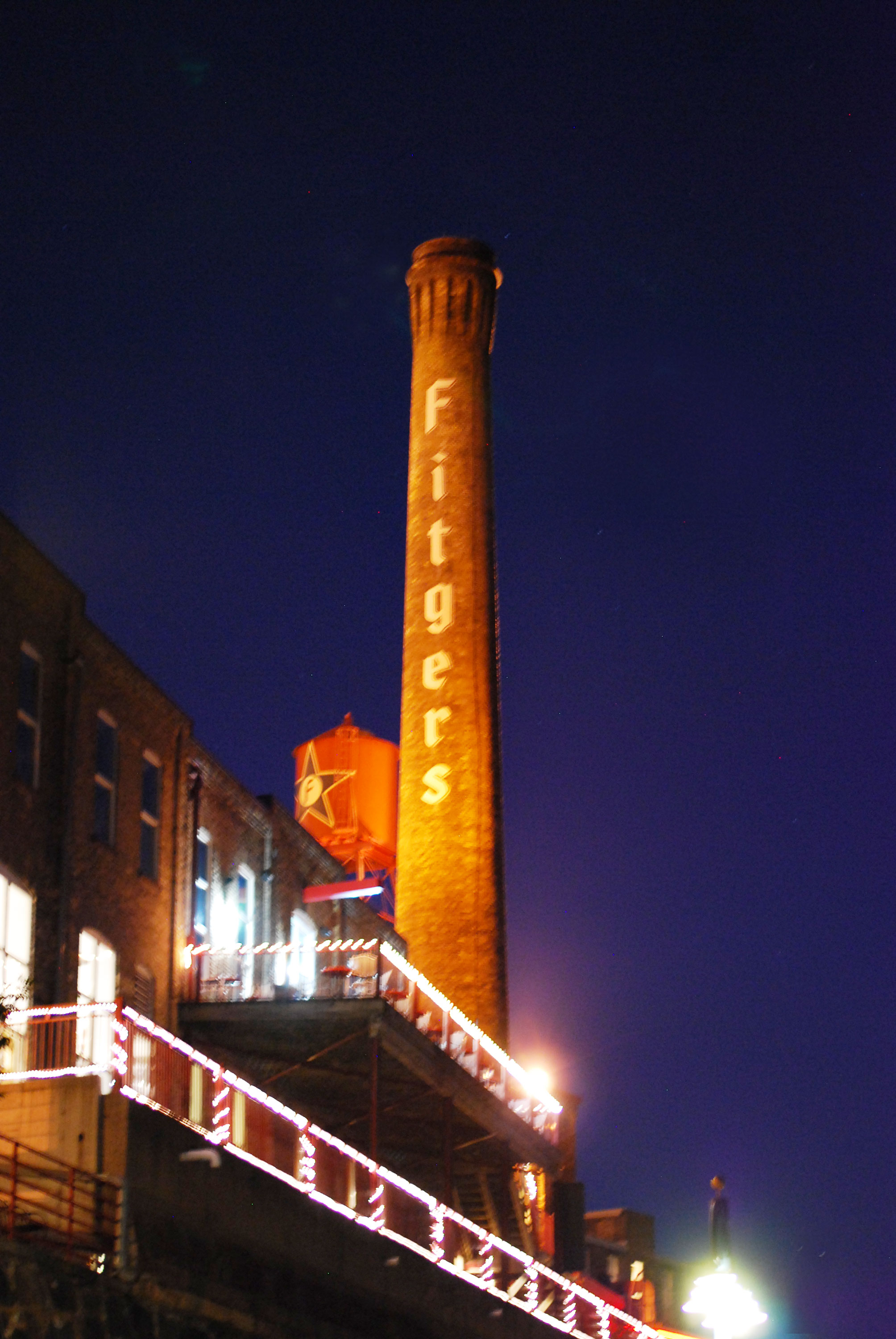 Fitger's Brewery Complex at night, Duluth, MN
