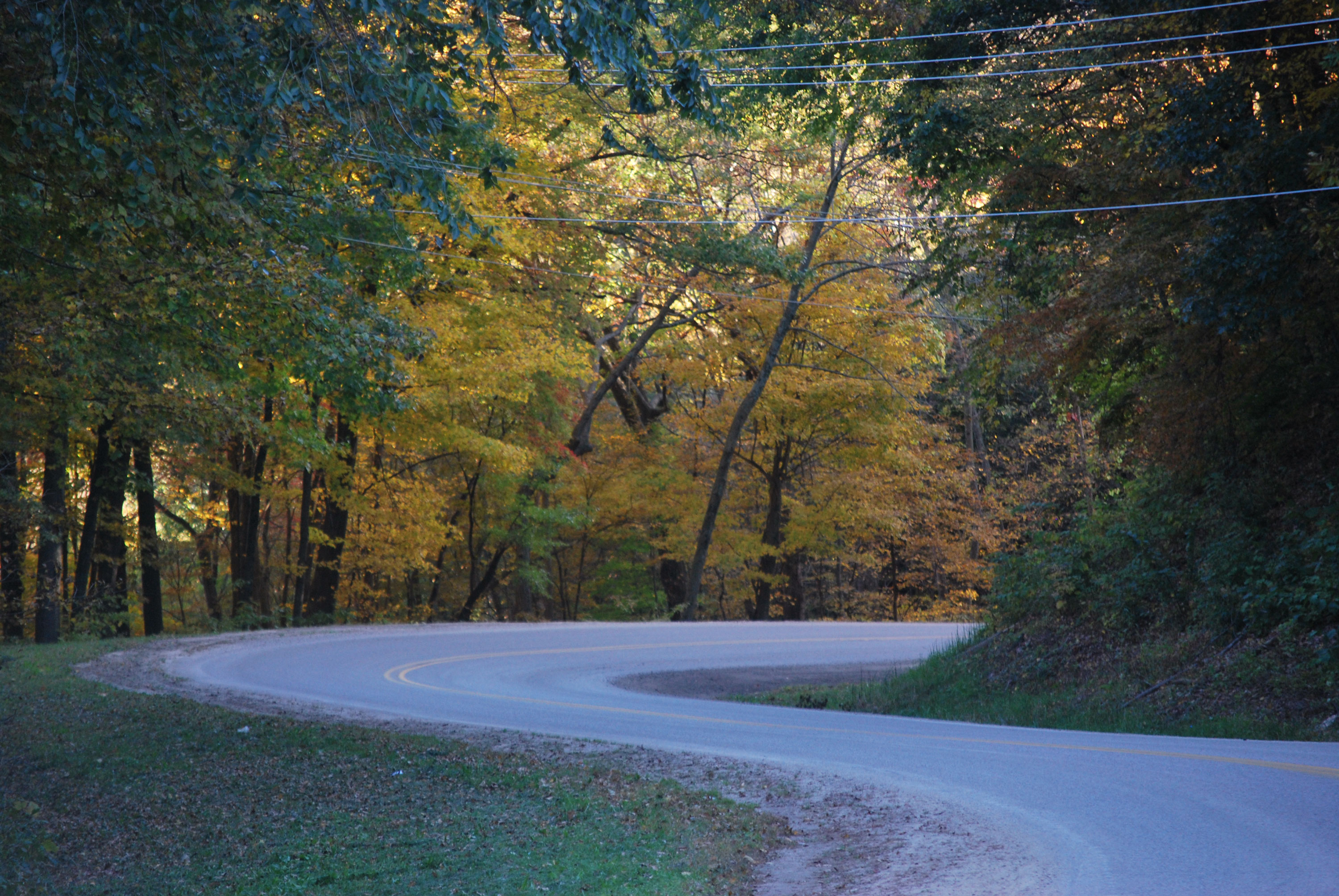 Meandering roads in Sauk County, WIsconsin