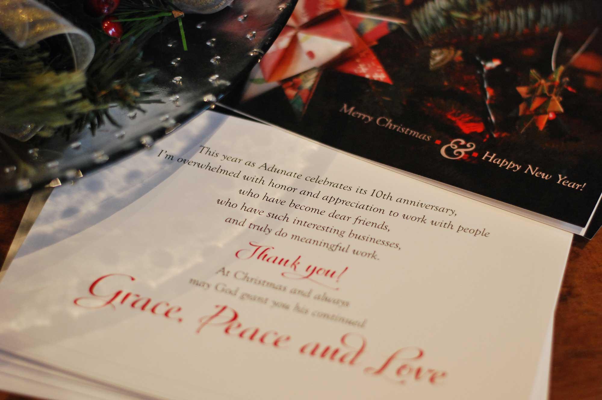 Christmas card 2015 by Adunate
