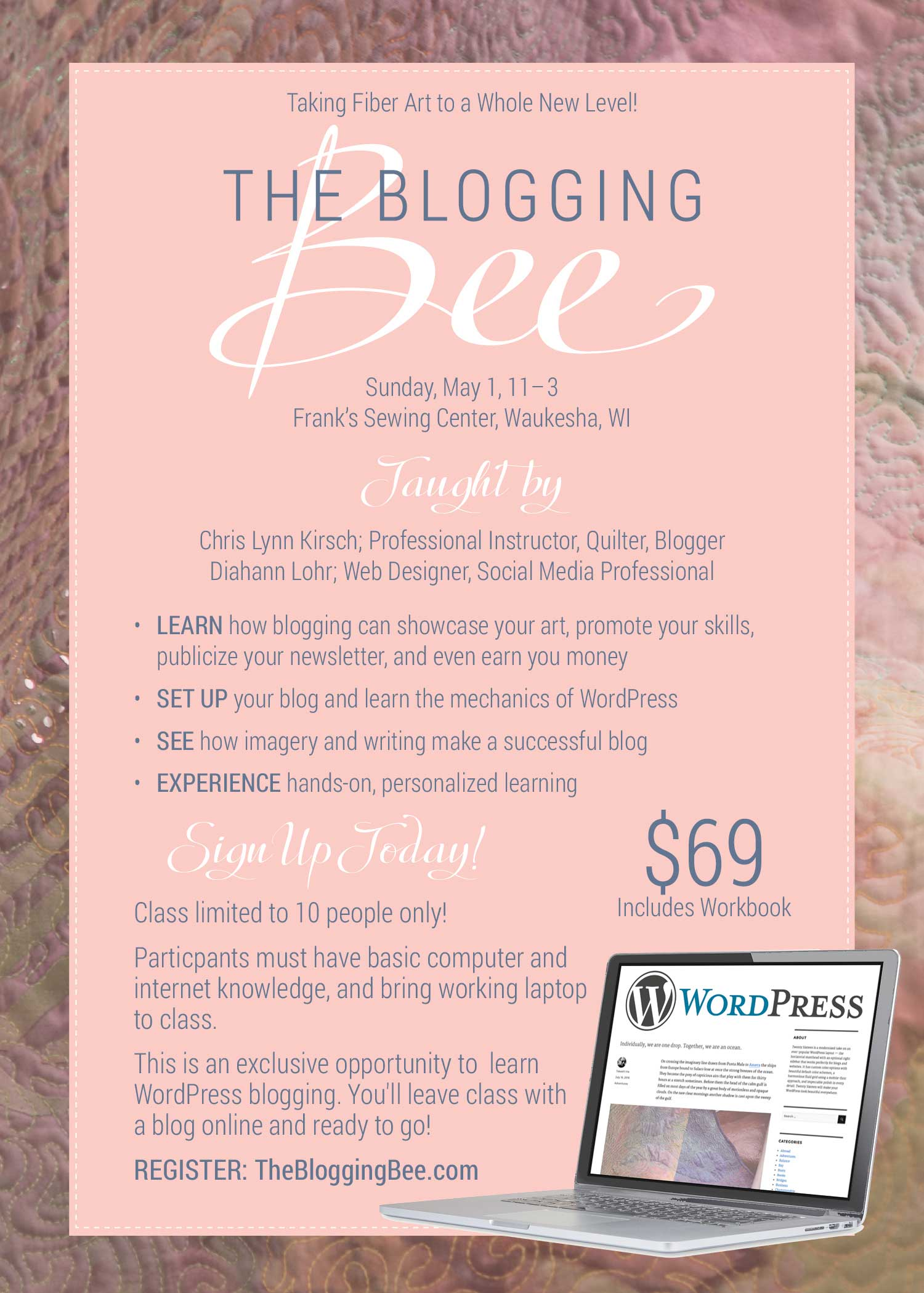 The Blogging Bee promotional ad, designed by Adunate.com