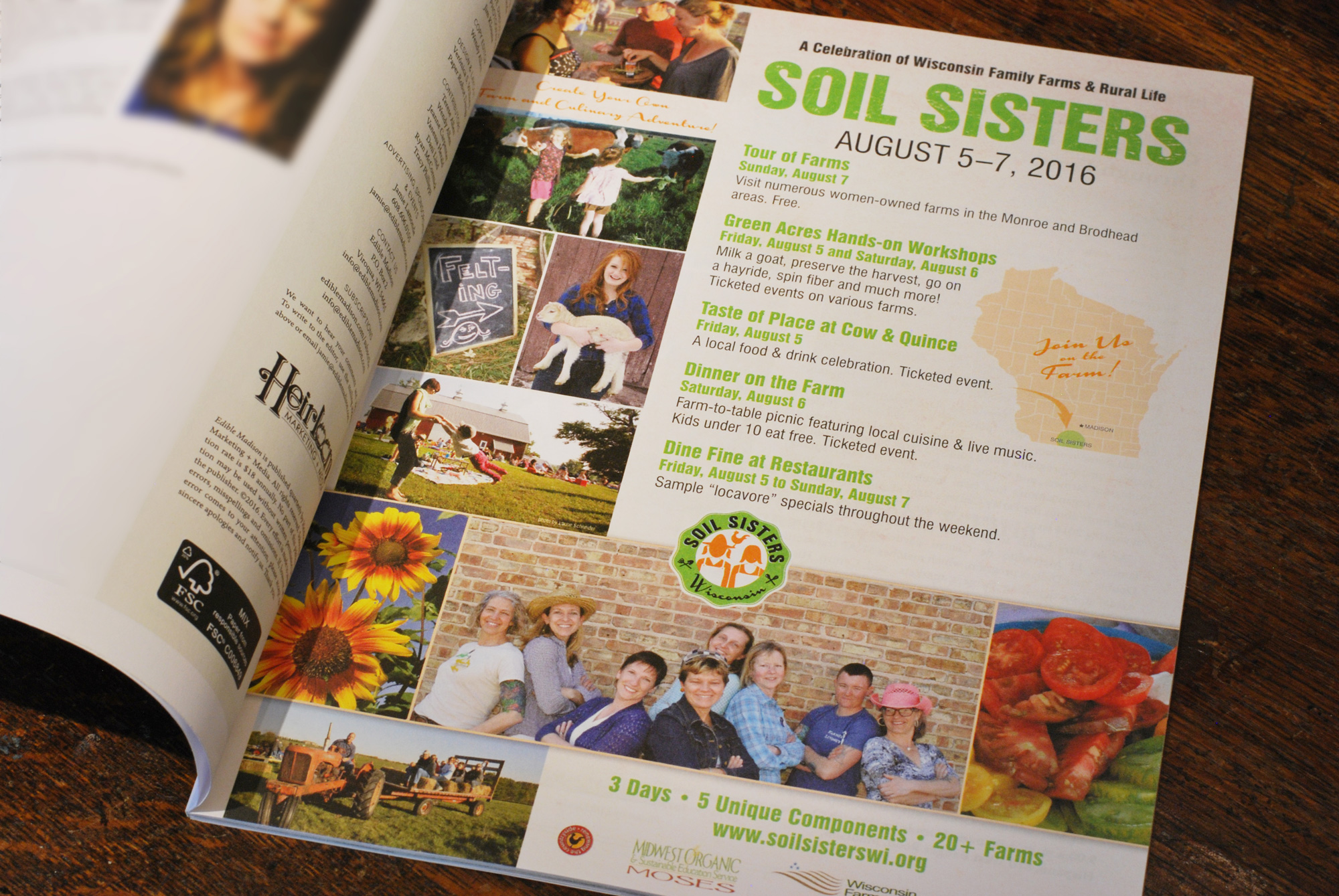 Soil Sisters ad by Adunate Word & Design