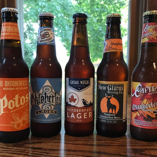 A few of the many delicious Wisconsin Oktoberfest beers